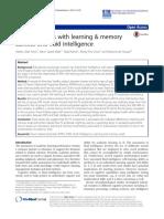 Relación de p 300 con la memoria y aprendizaje