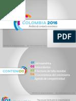 Análisis económico de Colombia 2016