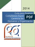 Guía Para ExaGerencia de Recursos Humanosmen Complexivo Especialista en Gerencia de Recursos Humanos y Organización