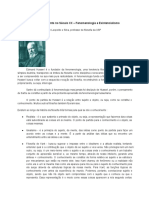 Fundadores Do Pensamento No Século XX - Fenomenologia e Existencialismo