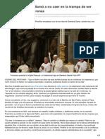 Lanacion.com.Ar-El Papa Francisco Llamó a No Caer en La Trampa de Ser Cristianos Sin Esperanza