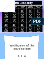 math jeopardy - doubles   near doubles