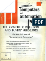 Computer Directory and Buyers Guide, 1962