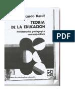 NASSIF, R. Teoría de La Educación. Introducción.