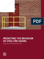 Predicting the Behavior of Steel Fire Doors