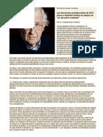 Entrevista a Noam Chomsky - Las Elecciones de 2016 Ponen a EEUU en Peligro de Desastre Completo (Marzo 2016)