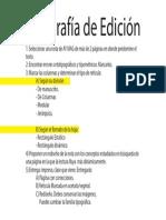 Tipografía de Edición