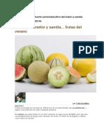 Cultivo Del Melón y Sandía