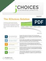 5 Choices Slipsheet
