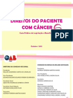 Cartilha Direitos Do Paciente Com Cancer