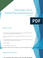 Tecnica Quirurgica de las Hepatoyeyunoanastomosis
