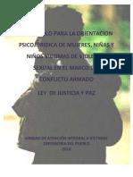 Orientación Psicojurídica Victimas de Violencia Sexual