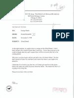 To George Shultz Re Gilead Board 11-09-1998 (II-141-1)