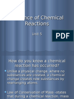 Evidence of Chemical Reactions Ppt