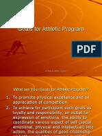 Goals for Athletic Program