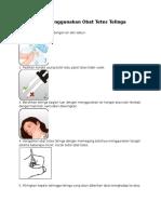 Cara Menggunakan Obat Tetes Telinga