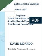 Politica Economica David Ricardo