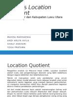 Analisis Location Quotient Kota makassar dan Kab. Luwu Utara