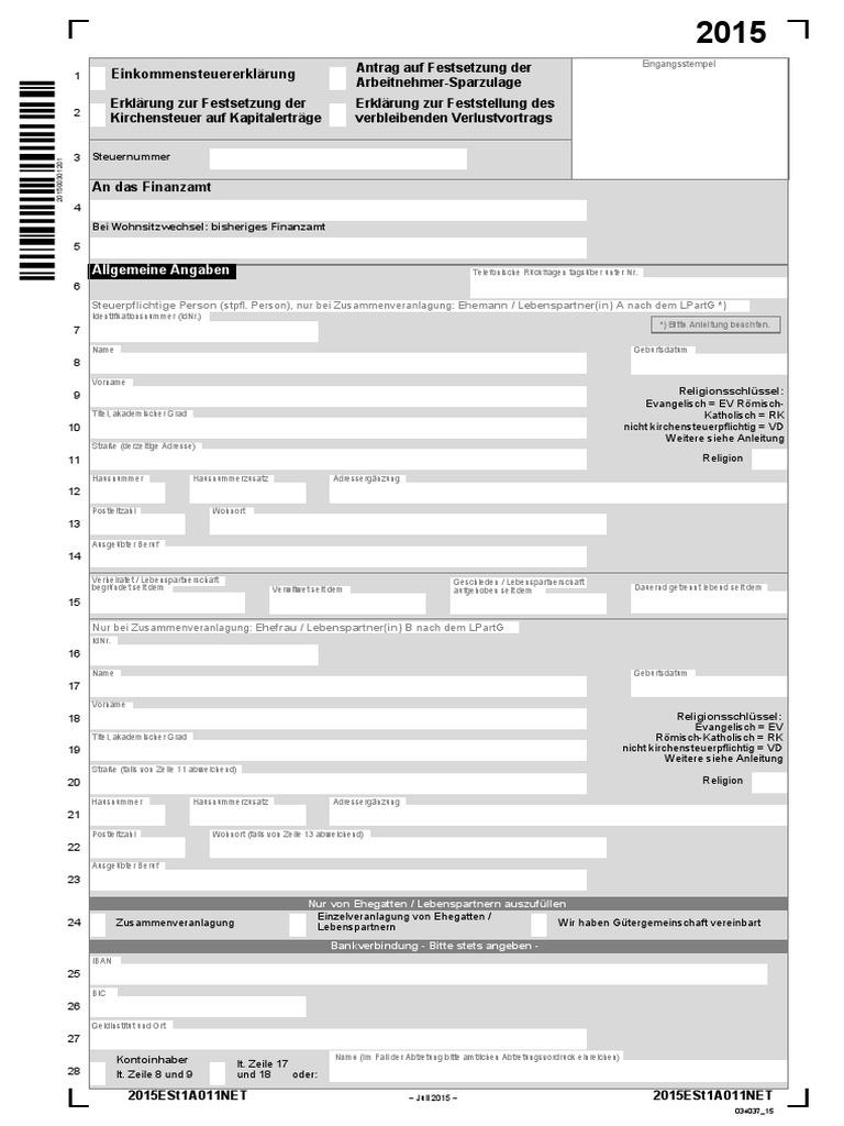 erklärung zur festsetzung der kirchensteuer auf kapitalerträge
