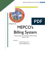 MEPCO Billing System internship report