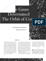 How Gauss Determined the Orbit of Ceres