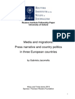 Media and Migrations Press Narrative and Country Politics in Three European Countries