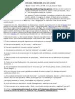 4º ESO B. INSTRUCCIONES PARA HACER EL TRABAJO LECTOR (BAJARSE AL MORO)
