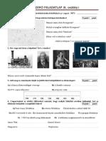 IV. a Forradalmak És a Polgárosodás Kora Európában - A Csoport (6. Osztály Témazáró Feladatlap) (1)