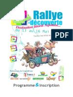 Imaginat Rallye Programme Et Inscription