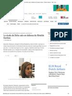 La Viuda de Dirks Sale en Defensa de Nivaldo Ourikes - Edicion Impresa - ABC Color