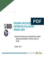 Segunda Aplicacion Del Sistema de Evaluacion Prodev Sep