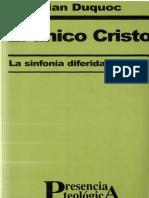 Duquoc Christian - El Unico Cristo - La Sinfonia Diferida