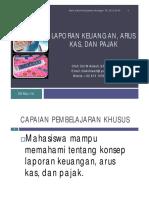 laporan  keuangan arus  kas dan pajak