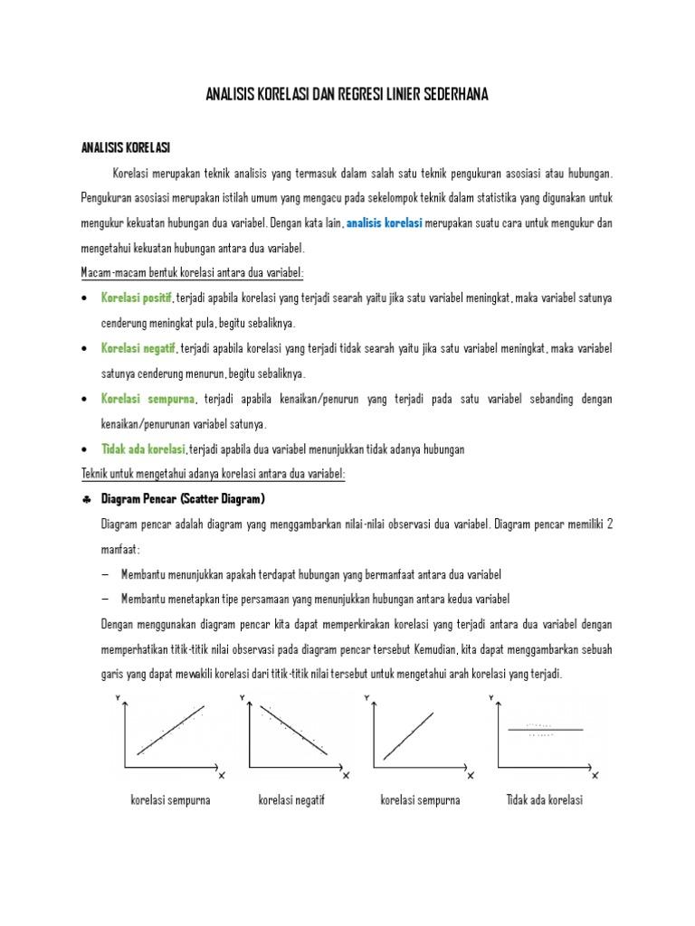 Analisis korelasi dan regresi linier sederhana 1533638785v1 ccuart Gallery