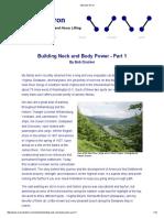 Neck Building Part 1