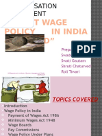 Wage Policy