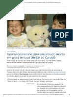 Família de Menino Sírio Encontrado Morto Em Praia Tentava Chegar Ao Canadá _ Mundo _ Gazeta Do Povo