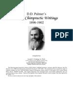 DD Palmer Earliest Writings 1896 1902