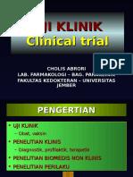 Uji Klinik Obat (Dr. Cholis)