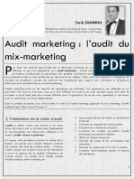 audit du marketing mix