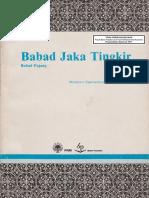 Babad Jaka Tingkir Moelyono Sastronaryatmo