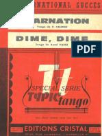 Antal Valdez - Dime Dime - Tango - Band Sheet Music