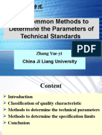 5.the Common Methods to Determine the Parameters of Technical Standards