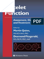 Platelet Function - Assessment, Diagnosis, And Treatment