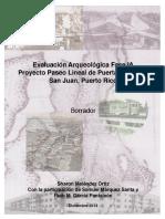 Evaluación Arqueológica Fase IA Paseo Lineal de Puerta de Tierra por Arq. Sharon Melendez