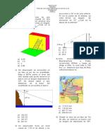 examen tipo icfes sobre aplicaciones de triángulos rectangulos