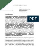 Contratación Moderna o Clásica - Didí Gómez Vilar
