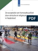 De Acceptatie Van Homoseksualiteit Door Etnische en Religieuze Groepen in Nederland (2)