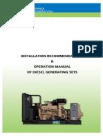 Aperation Manual Diesel Fenerating Sets