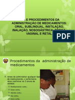 Administração de Medicamentos 2 Faculdade de Medicina